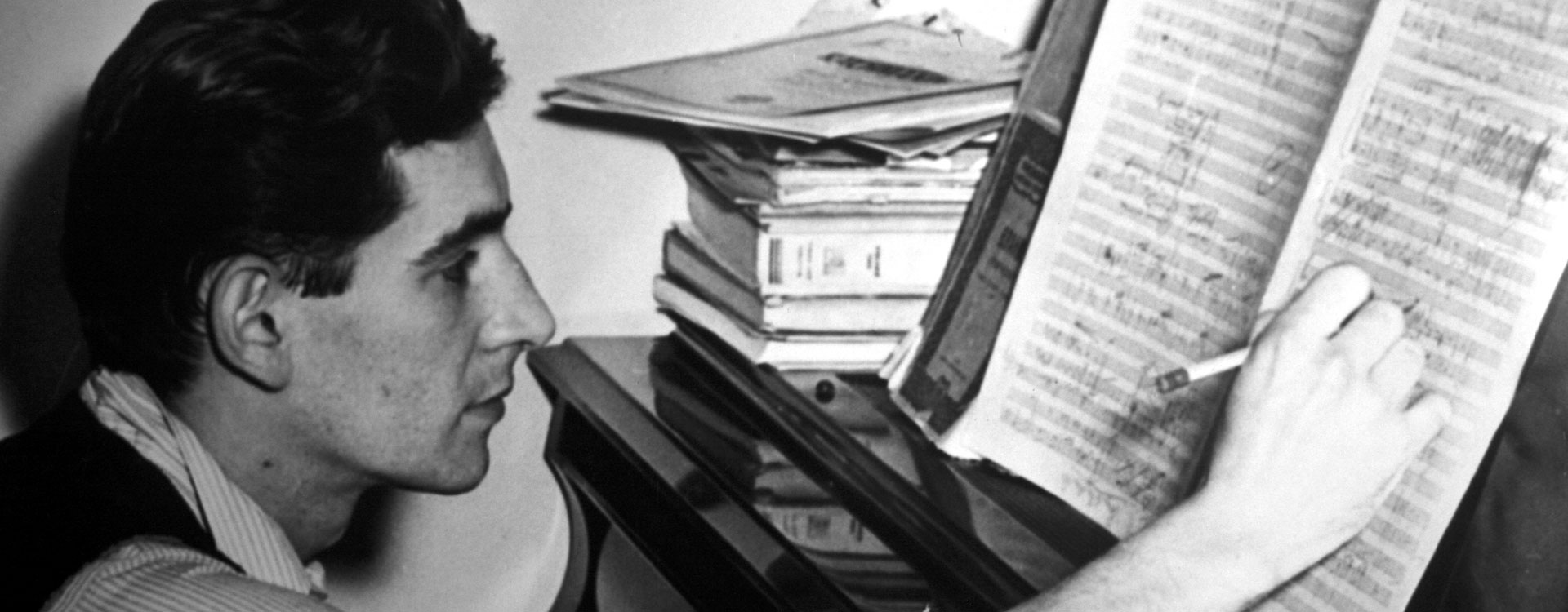 """biography of leonard bernstein Determined to make a career in music, despite his father's insistence that """"music  just keeps people awake at night,"""" bernstein eschewed the family beauty parlor."""